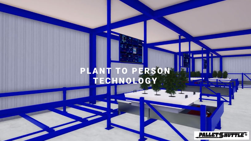 Pallet Shuttle Plant To Person Technology